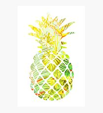 Pick A Pleasant Pineapple in Paradise #RBSTAYCAY #Sky #Blue #Tropical #Jungle #Summer #BeachParty Photographic Print