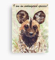 I am an endangered species! Canvas Print