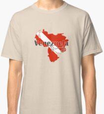 Venezuela Diving Diver Map Flag Classic T-Shirt
