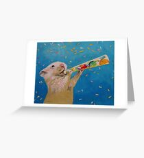 Happy Hamster New Year Greeting Card