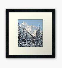 Washington mountains Framed Print
