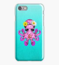 Cute Pink Baby Octopus Hippie iPhone Case/Skin