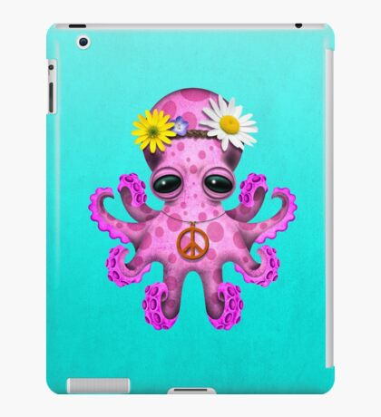 Cute Pink Baby Octopus Hippie iPad Case/Skin