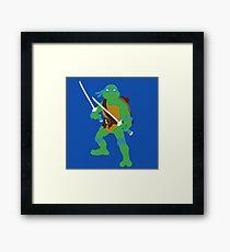Leonardo Blocky Framed Print