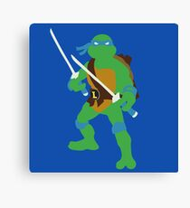 Leonardo Blocky Canvas Print