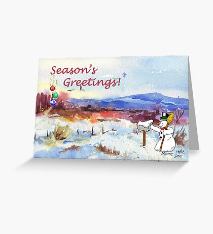 Season's Greetings from me to you! Greeting Card