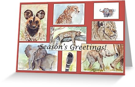 Seasons greetings from africa greeting cards by maree clarkson seasons greetings from africa by maree clarkson m4hsunfo