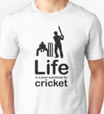 Cricket v Life - Black Graphic Unisex T-Shirt