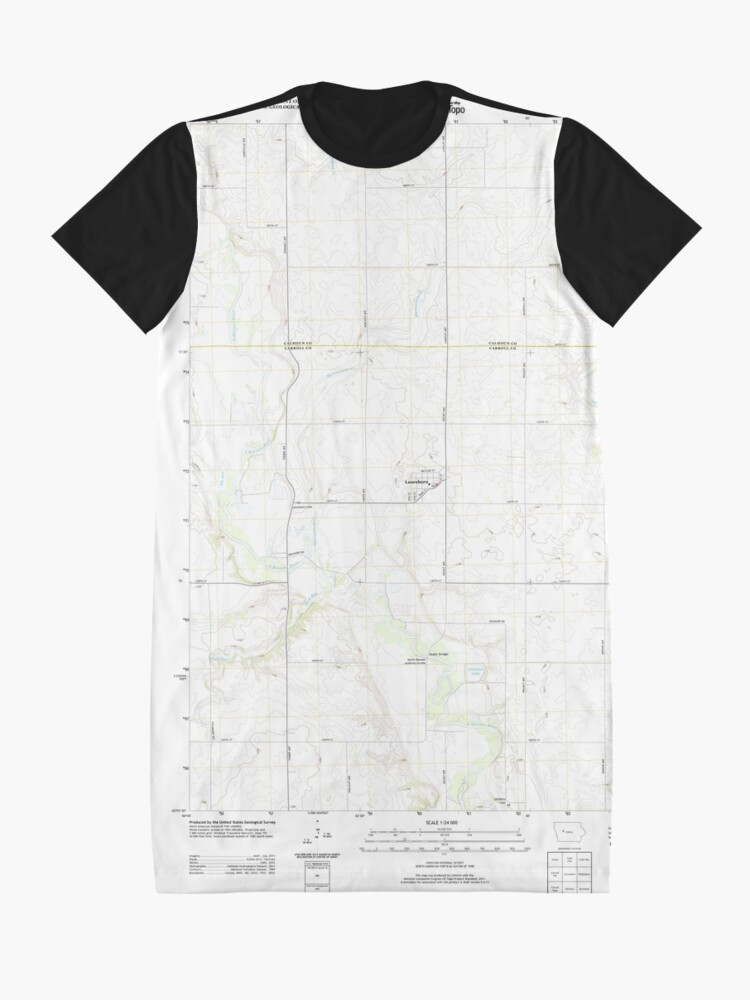 Alternative Ansicht von USGS TOPO Maps Iowa IA Lanesboro 20130415 TM T-Shirt Kleid