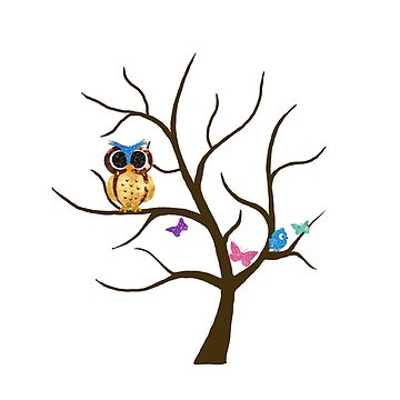 Owl and Blue Bird by mlswig