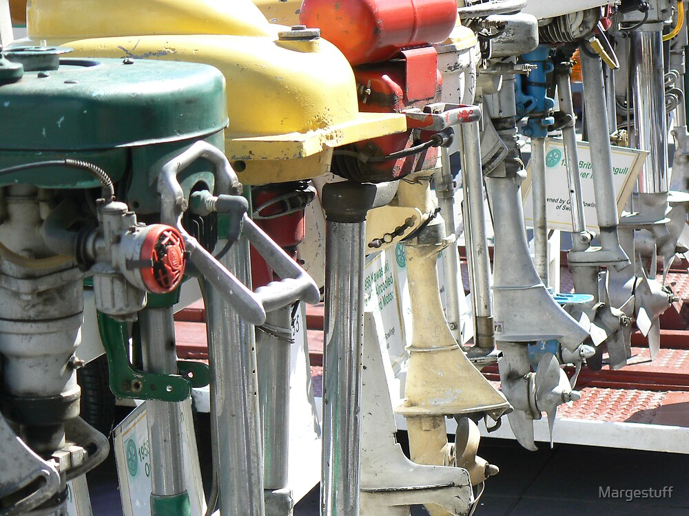 Little outboards in a row by Margestuff