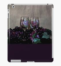 Hand Painted Wine Glasses, Grapes & More Grapes iPad Case/Skin