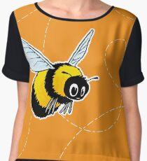 Happily Bumbling Bumble Bee Chiffon Top