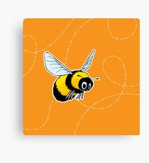 Happily Bumbling Bumble Bee Canvas Print