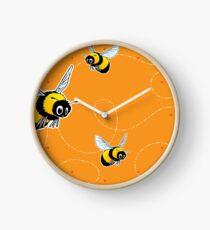 Happily Bumbling Bumble Bee Clock