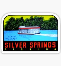 Silver Springs Florida Vintage Travel Decal Sticker