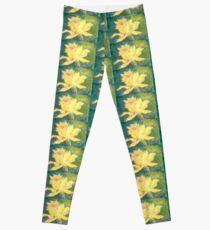Retro Comic Daffodil Leggings