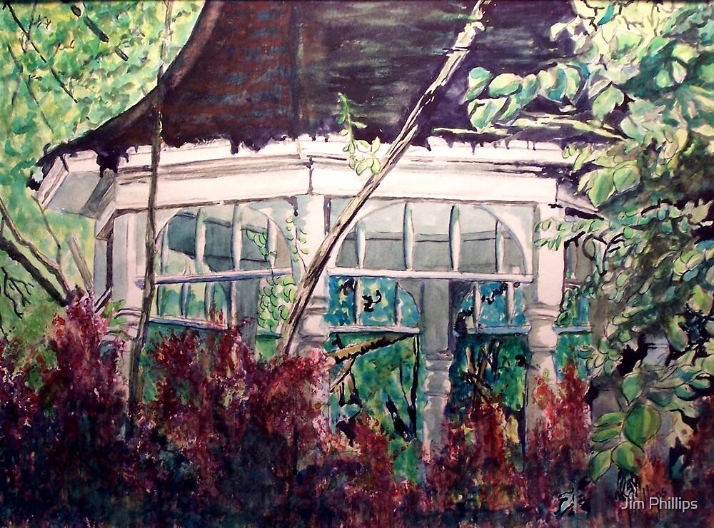 Overgrown Gazebo by Jim Phillips