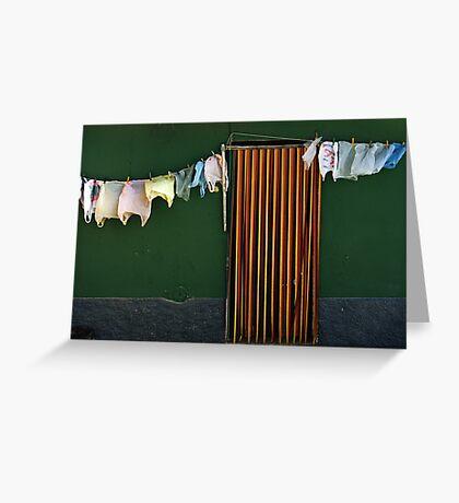 Bag Wash Greeting Card