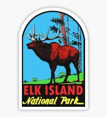 Elk Island National Park Vintage Travel Decal Sticker