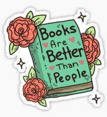 Pegatina Libros> Gente