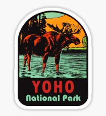 Yoho National Park BC Moose Vintage Travel Decal Sticker
