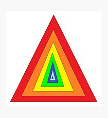 Color triangles Photographic Print