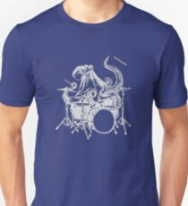 Octopus And Drums Funny Unisex T-Shirt