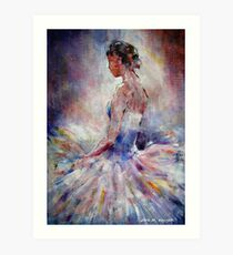 Ballet Dancer Contemplating Art Print