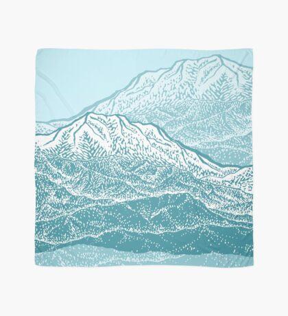 Distant Snow- 遠雪 : linocut Scarf