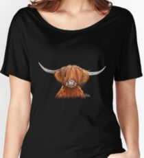 Scottish Hairy Highland Kuh 'HARLEY 2' von Shirley MacArthur Baggyfit T-Shirt