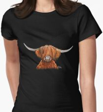 Scottish Hairy Highland Kuh 'HARLEY 2' von Shirley MacArthur Tailliertes T-Shirt