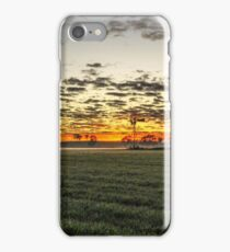 Sunrise over windmill in paddock iPhone Case/Skin