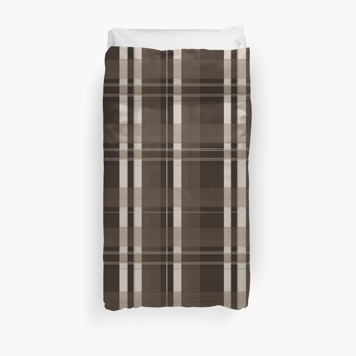 Brown and Taupe Plaid by PharrisArt
