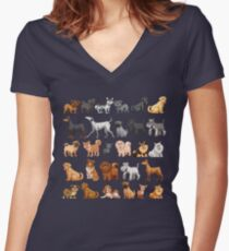 Dog K9 Puppy Animal Pet Lover T Shirt  Women's Fitted V-Neck T-Shirt