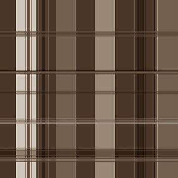 Brown and Taupe Plaid II by PharrisArt