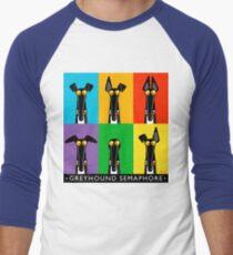 Greyhound Semaphore with title Men's Baseball ¾ T-Shirt