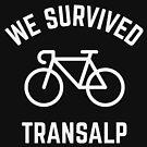 We Survived Transalp (Alps / Racing Bike / White) by MrFaulbaum