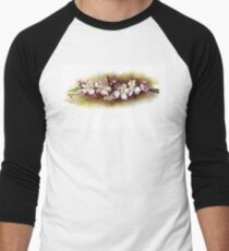 Apple Blossoms Men's Baseball ¾ T-Shirt