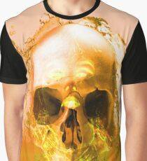 Golden Skull in Water Graphic T-Shirt