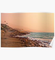 Jordan. Dead Sea. Sunrise. Poster