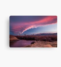 Sierra Wave and Lower Owens Canvas Print