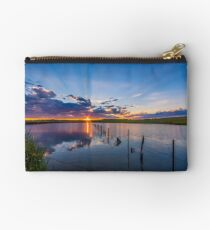 Beautiful sunset reflected over lake Studio Pouch