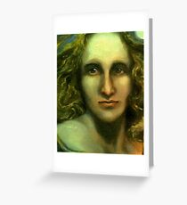 Portrait of Mary Shelley - Caught Between the Moon and Candlelight (1797 - 1851) Greeting Card