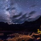 Milky Way over Lake Sabrina by Cat Connor