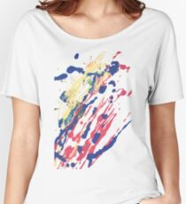 Abstract Red Blue Yellow Women's Relaxed Fit T-Shirt