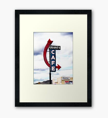 grants cafe, route 66, grants, new mexico Framed Print