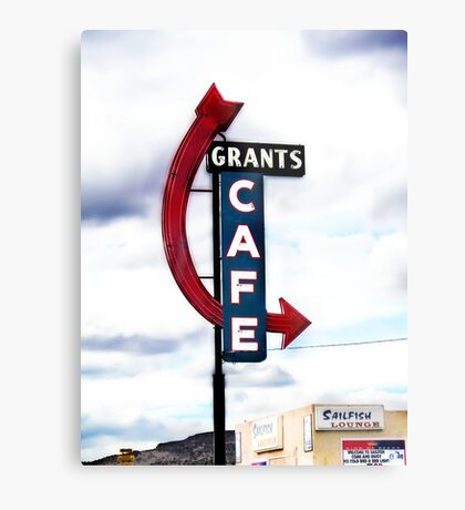 grants cafe, route 66, grants, new mexico Metal Print