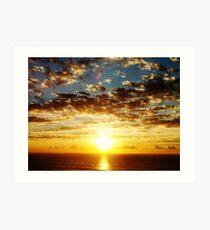 Sunrise over the sea . Art Print