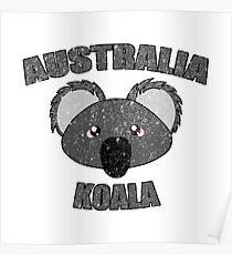 Koala vintage design - Australian animal  Poster